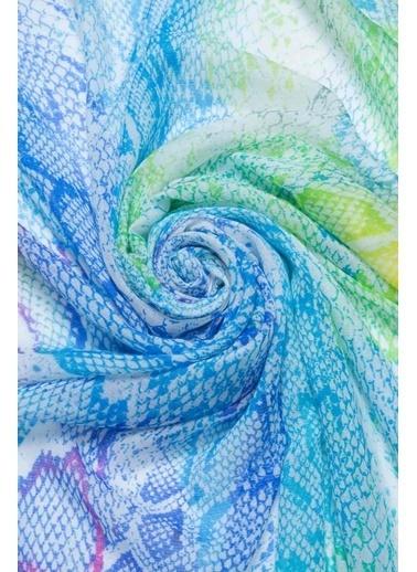 Silk and Cashmere İpek Karışımlı Jas Hayvan Desenli Şal 70x180 cm Mor